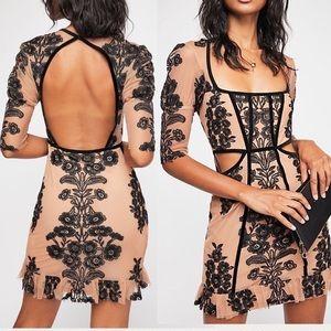 For Love & Lemons / FP Temecula Fall Mini Dress L